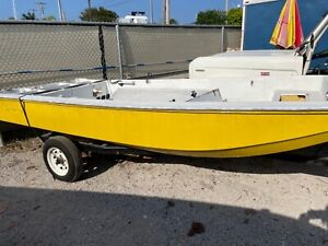 13' Spoonplugger Boston Whaler Clone by Troller Boat with trailer Clean FL title