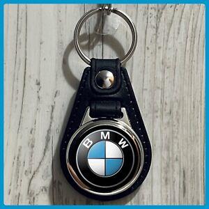 Single Sided Leather Keychain BMW