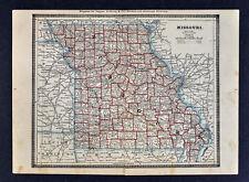 1886 Banker Attorney Map by Cram - Missouri St. Louis Kansas City Jefferson MO