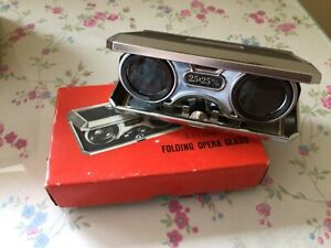 Vintage Folding Opera Glass  2.5 x 25 m/m With Box