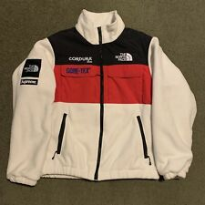 Supreme X The North Face Expedition Fleece Jacket White Large FW18 Authentic