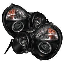 Mercedes Benz 96-99 W210 E300 E320 E420 E430 Black Dual Halo Projector Headlight