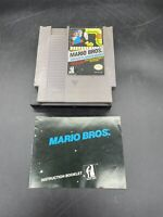 Original Mario Bros Arcade Classics For Nintendo NES - GAME AND MANUAL ONLY