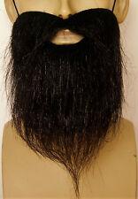 Black Fancy Dress Beard Quality Accessory. Pirate Cowboy Wizard Hippy Panto