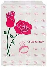 100 Jewelry Paper Gift shopping Bag 8.5x11 #4 Pink Rose