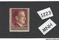 #1223     MNH 1942 stamp 30 Gr + 1ZL / Adolph Hitler / Poland  THICK PAPER