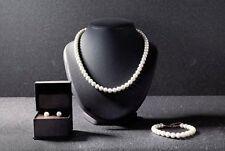 Perlenkette - Perlenarmband - Ohrclip - Halskette  Schmuckset Perlen NEU