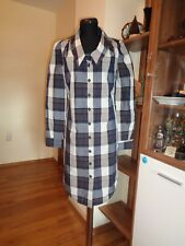 VIVIENNE WESTWOOD ANGLOMANIA PLAID BUTTONED COTTON SHIRT TUNIC DRESS-SIZE 42(IT)
