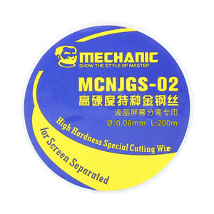 Mechanic MCNJGS-02 High Hardness  Cutting Wire with Handle for Screen Separation