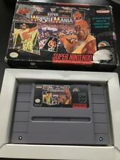 WF SUPER WRESTLEMANIA SUPER NINTENDO / SNES NTSC USA BOXED