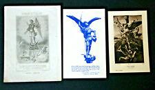 3 Images pieuse holy cards  Archange Saint Michel Saint Michael
