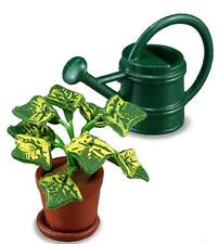 DOLLHOUSE Potted House Plant and Watering Can Set Reutter 1.741/5 Miniature