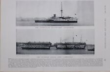 1897 BOER WAR THE THIRD-CLASS BATTLE SHIP CONQUEROR ~ CAMBRIDGE GUNNERY SHIP