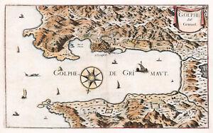 "1680 Pictorial Map Gulf of St. Tropez - 10""x16"" Wall Art Print Decor Artwork"
