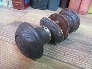 CARVED WOOD DOOR KNOB EASTLAKE  VICTORIAN EAST LAKE original antique 1800'S