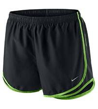 Nike Women's Tempo Running Shorts, Black/Black/Green Pulse,