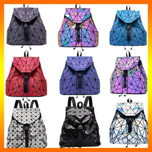Rainbow Color Backpack Reflective Rainbow Clutch Crossbody Shoulder Bag Luminous