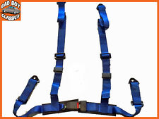 SPORTS RACING HARNESS SEAT BELT 3 OR 4 POINT FIXING QUICK RELEASE BLUE