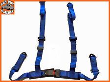 Sports Racing Harness Cintura di sicurezza 3 o 4 punti Di Fissaggio Sgancio Rapido Blu