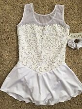 Sale Icings Nwt White Lace Competition Roller Ice Skating Dance Baton Dress