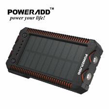 Poweradd Waterproof 12000mAh Dual USB Solar Power Bank External Battery Charger