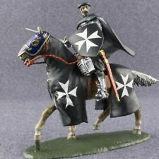 Medieval 1/32 Knight Hospitaller Hand Painted Horseman Toy Tin Soldier 54mm