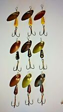 9 1/4oz inline spinners 3 black, copper and yellow Martin yellow body see photo
