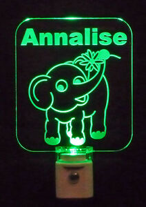 Personalized Elephant and Flower LED Night Light *Or Design your own Light