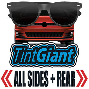 TINTGIANT PRECUT ALL SIDES + REAR WINDOW TINT FOR BMW 528e 4DR SEDAN 82-88