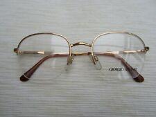 Emporio Armani Gold metal spectacle frames - half rim