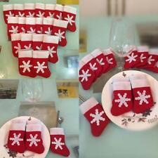 12Pcs Lovely Mini Christmas Stocking Cutlery Bag Holder Sock For Xmas Decor LH