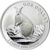 Australien 1 Dollar 2012 Känguru Mareeba Rock Wallaby 1 Oz Silber Anlagemünze