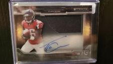 2015 Topps Strata Tevin Coleman Clear Cut Jersey Auto Falcons Rookie Autograph