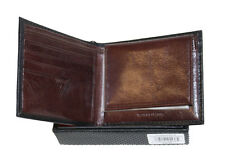 NEW GUESS MEN'S LEATHER CREDIT CARD ID WALLET PASSCASE BIFOLD BLACK Style#22X018