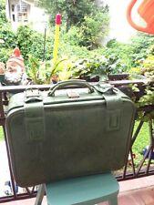Vintage 70er Jahre Original Boardcase Grasgrün Kunstleder Koffer