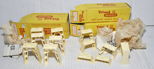TRIANG TT BOXED T110 HIGH LEVEL PIERS AND 2X T105 INCLINED PIERS