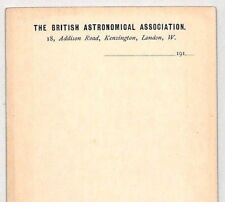 CB34 1910s GB ASTRONOMY STATIONERY *British Astronomical Assoc* Cards{2} SCIENCE