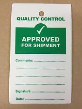 Quality Control QC Approved For Shipment Plastic Tags - Pack of 10