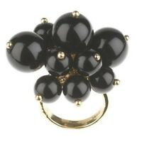 QVC Joan Rivers Cluster of Black Beads Ring Size 10 SOLD OUT $99