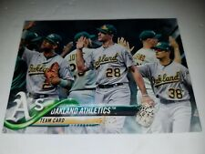 2018 TOPPS SERIES 2 #580 OAKLAND ATHLETICS BLACK PARALLEL TEAM CARD #D 67/67