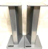 ATACAMA 50cm Speaker Stands B&W Bowers Wilkins DM602 DM110 DM220 DM4 DM5 SILVER
