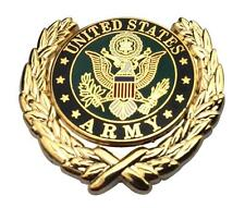 US Army Logo Wreath Military Veteran Lapel Metal Hat Pin Emblem 1-1/8""