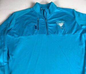 Adidas ClimaLite Jacket Mens Large Long Sleeve 1/4 Zip Aqua Mosaic Cup Orlando