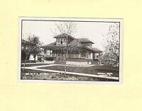 IA Paullina 1940s era RPPC real photo postcard ESHELMAN HOUSE Iowa
