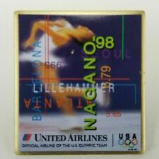 1998 United Airlines Nagano Olympic Pin Figure Skating USA Olympic Team Rings