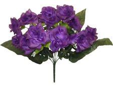 Purple wedding bulk flowers for sale ebay 12 open roses purple long stem silk flowers wedding centerpieces bouquet mightylinksfo