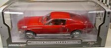 RED 1968 FORD MUSTANG GT GREENLIGHT 1:18 SCALE DIECAST METAL MODEL CAR