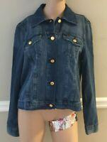 Michael Kors Basics Riviera Blue Denim Jacket Size XL NWT $120