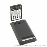 3500mAh Extended Battery for HTC EVO 4G Black Cover