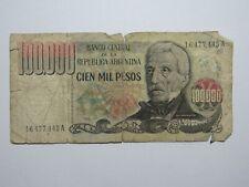 ARGENTINA 100000 PESOS P 308 XF CONDITION